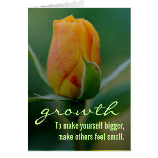 Quick & easy method for personal growth card