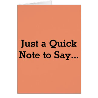 Quick Note Cockwomble Card