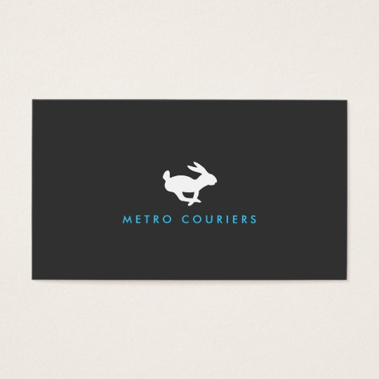 Quick Rabbit Logo (Grey) Business Card