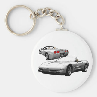 Quick Silver Basic Round Button Key Ring