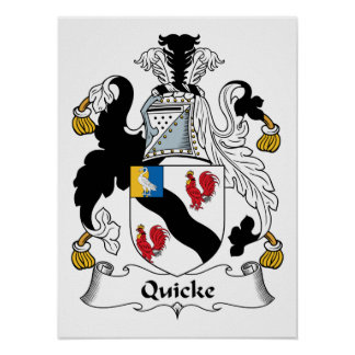 Quicke Family Crest Poster