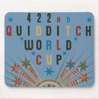 QUIDDITCH™ World Cup Blue Poster Mouse Mat