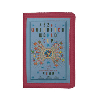 QUIDDITCH™ World Cup Blue Poster Trifold Wallet
