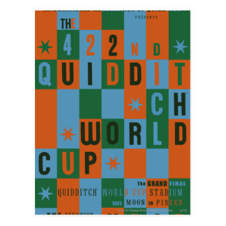 QUIDDITCH™ World Cup Checkerboard Poster Postcard