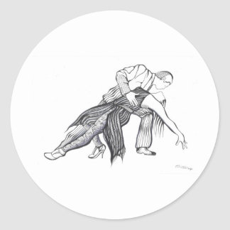 Quiero Tango Round Stickers