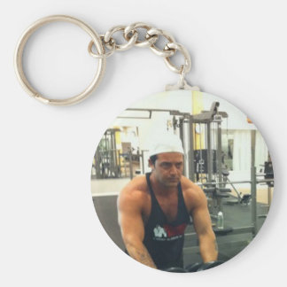 Quiet approximately basic round button key ring