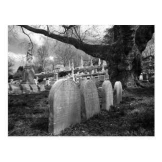 quiet cemetery postcard