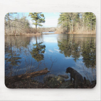 Quiet Cove and Dog ~ mousepad