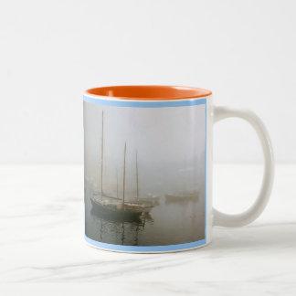 Quiet evening in Camden Harbor, Maine Two-Tone Mug