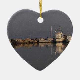 Quiet Harbor Ceramic Heart Decoration