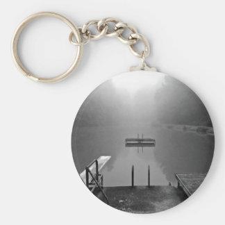 Quiet Lake Basic Round Button Key Ring