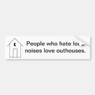 Quiet Outhouse Bumper Sticker