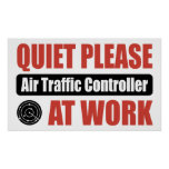 Quiet Please Air Traffic Controller At Work Print