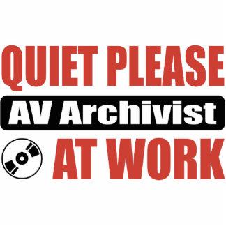 Quiet Please AV Archivist At Work Photo Sculpture Decoration