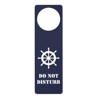 Quiet please Do not disturb sign nautical maritime