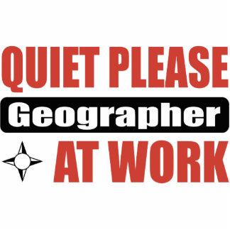 Quiet Please Geographer At Work Photo Sculptures