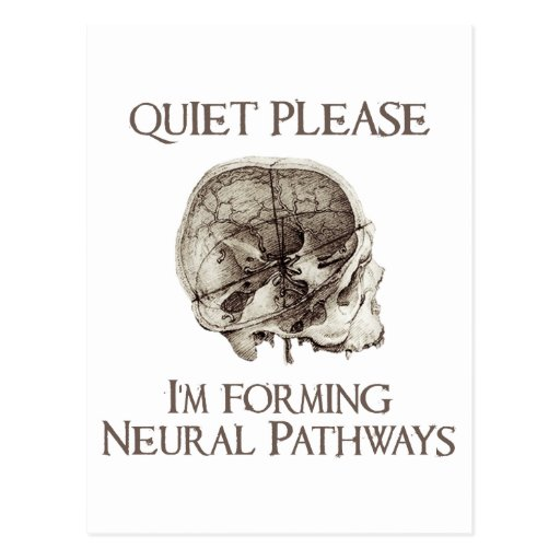 Quiet Please: I'm Forming Neural Pathways Post Card