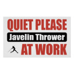 Quiet Please Javelin Thrower At Work Poster