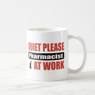 Quiet Please Pharmacist At Work Basic White Mug