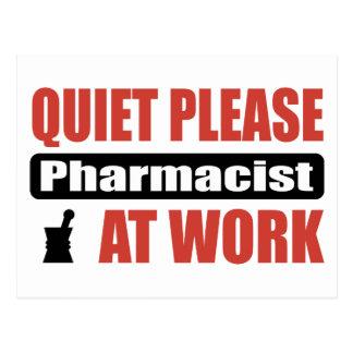 Quiet Please Pharmacist At Work Postcard