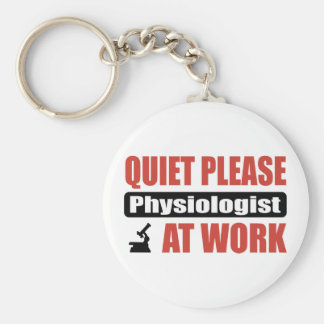 Quiet Please Physiologist At Work Basic Round Button Key Ring