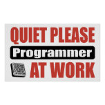 Quiet Please Programmer At Work Poster