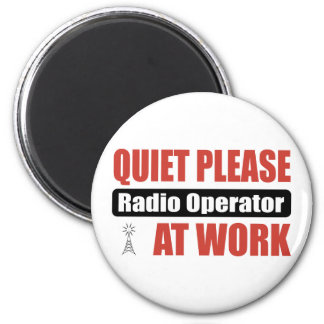 Quiet Please Radio Operator At Work Magnet