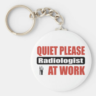 Quiet Please Radiologist At Work Key Ring