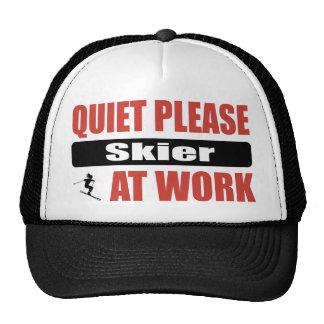 Quiet Please Skier At Work Mesh Hats