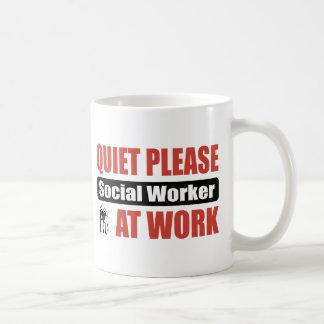 Quiet Please Social Worker At Work Coffee Mug