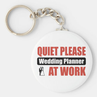 Quiet Please Wedding Planner At Work Basic Round Button Key Ring