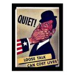 Quiet! Postcard