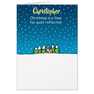 Quiet Reflection. Personalised Christmas Card
