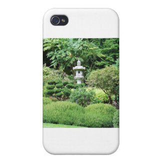 Quiet solitude and lush green of a Japanese Garden Cases For iPhone 4