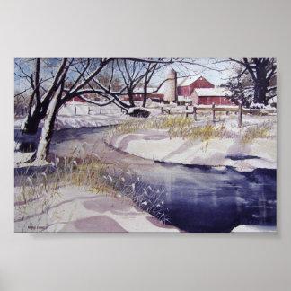 Quiet stream during winter- poster