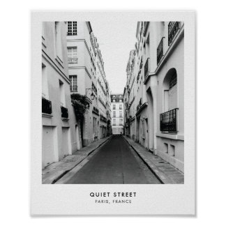 Quiet Street in Paris | Photography poster print