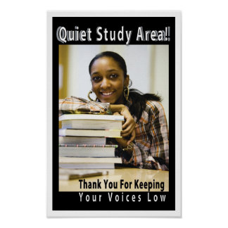 Quiet Study Area Academic Library Poster