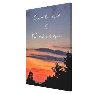 Quiet the mind canvas print