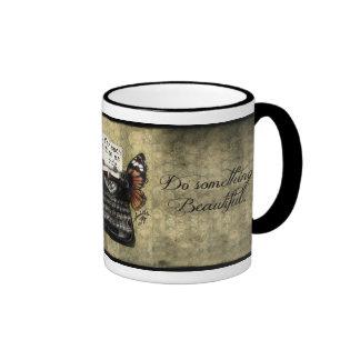 Quiet Time Mugs, Do Something Beautiful Ringer Mug