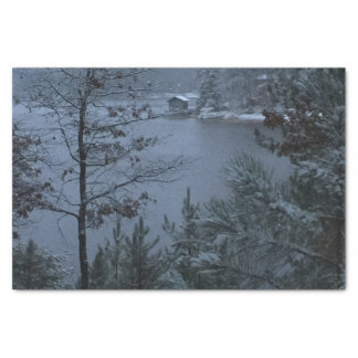 Quiet Winter Lake Tissue Paper