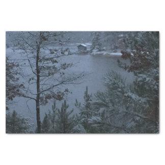 Quiet Winter Lake Tissue Paper