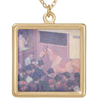Quiet with all Road Nuisances, c.1912 (oil on canv Square Pendant Necklace