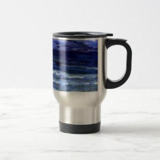 Quiet Wonder Night Ocean Beach Surf Coffee Mug