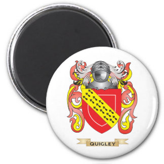 Quigley Coat of Arms (Family Crest) 6 Cm Round Magnet