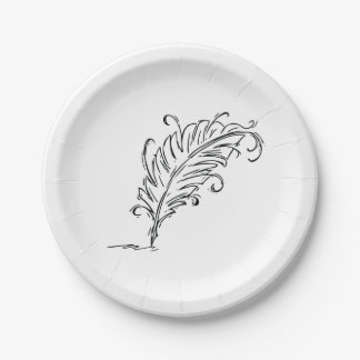 Quill Pen Paper Plates 7 Inch Paper Plate