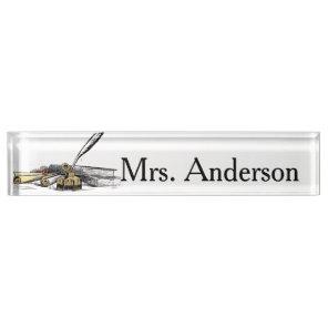 Quill Teacher Nameplate for desk