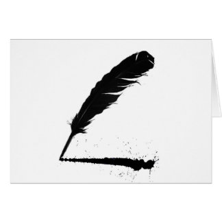 Quill with Ink Card