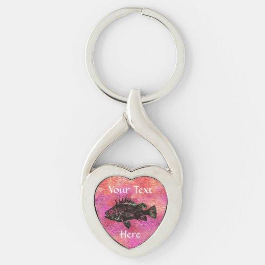 Quillback Rockfish Pink - Customisable Keychain