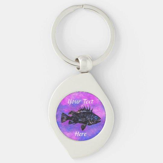 Quillback Rockfish Purple - Customisable Keychain