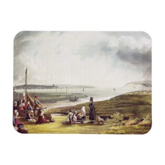 Quillebeuf, from 'Views on the Seine', engraved by Rectangular Photo Magnet